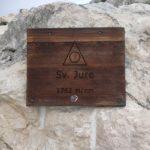 Tablica na Sveti Jure - Chorwacja