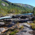 Wśród wodospadów Gaularfjellet