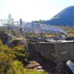 Wśród wodospadów Gaularfjellet, most nad Likholefossen