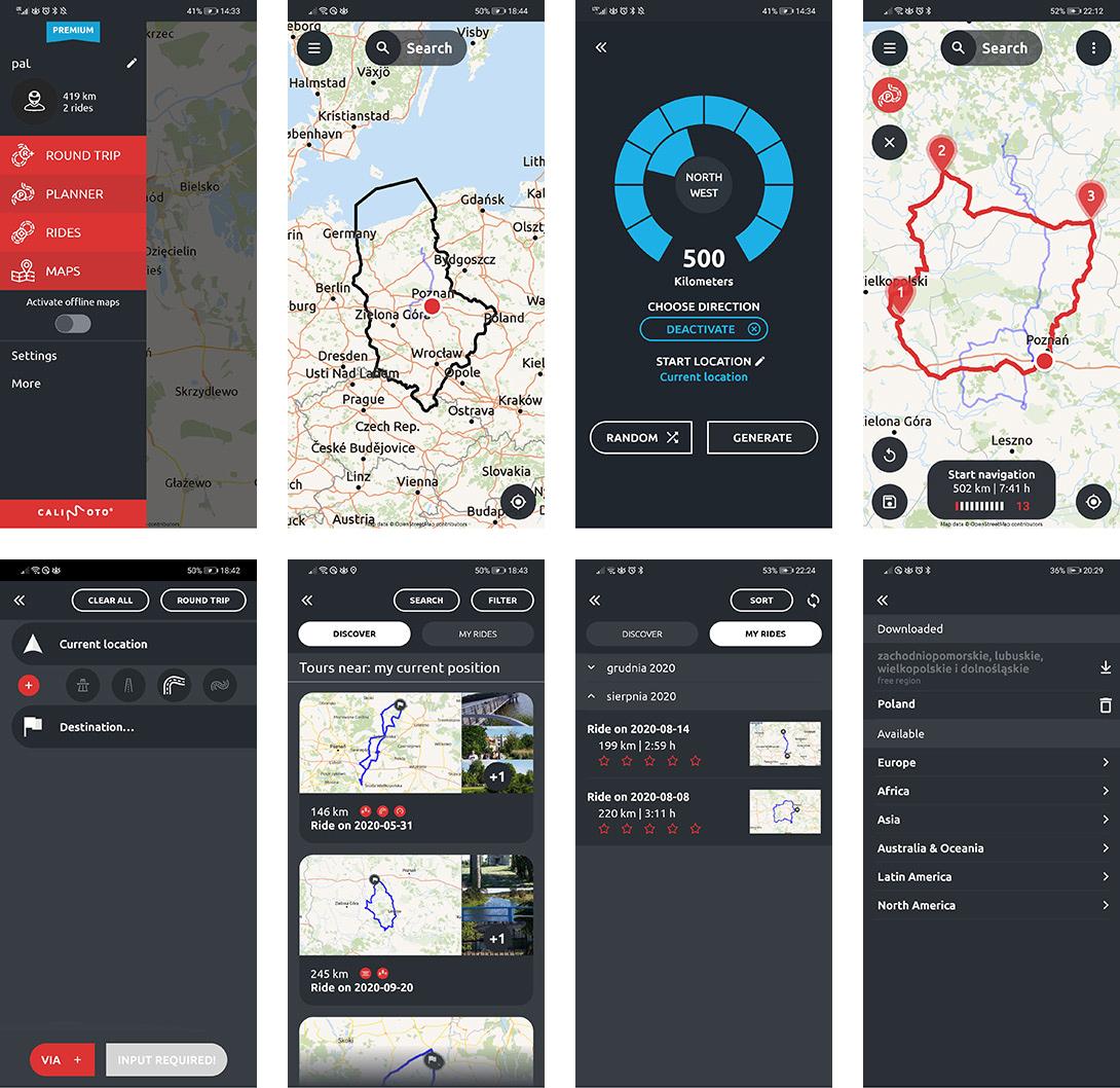 Calimoto najlepsza aplikacja motocyklowa na telefon