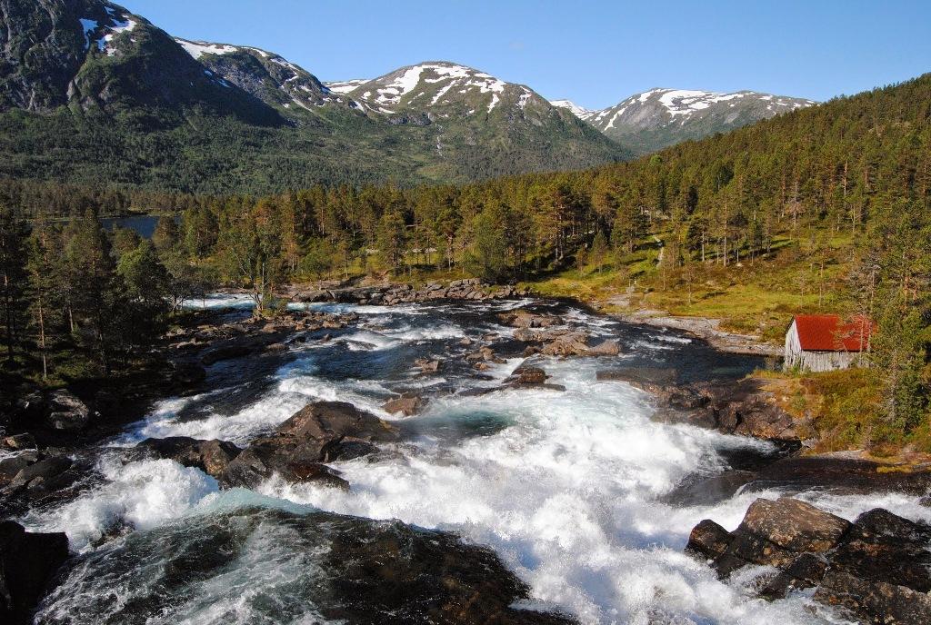 Wśród wodospadów Gaularfjellet...